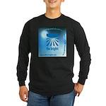 Logo with URL and tagline Long Sleeve Dark T-Shirt