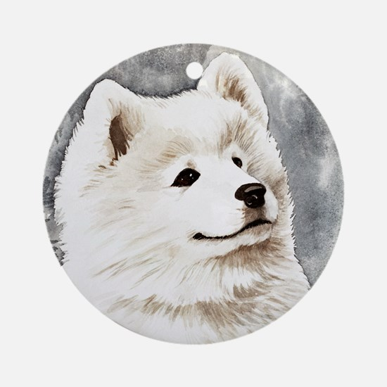 Samoyed Puppy Ornament (Round)