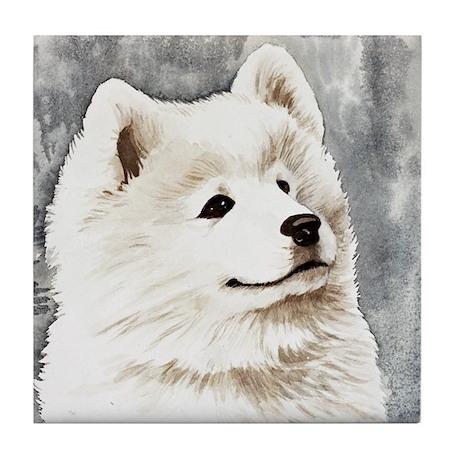 Samoyed Puppy Tile Coaster