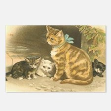 Mama Cat and Kittens Postcards (Package of 8)