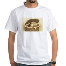 Calico Cat and Kittens in Bas Shirt