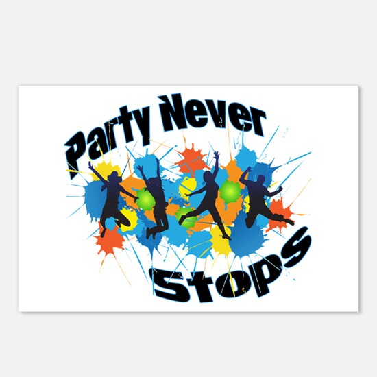 Party Never Stops Postcards (Package of 8)