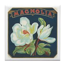Magnolia antique label Tile Coaster