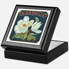 Magnolia antique label Keepsake Box