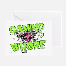 Gaming Whore Greeting Card