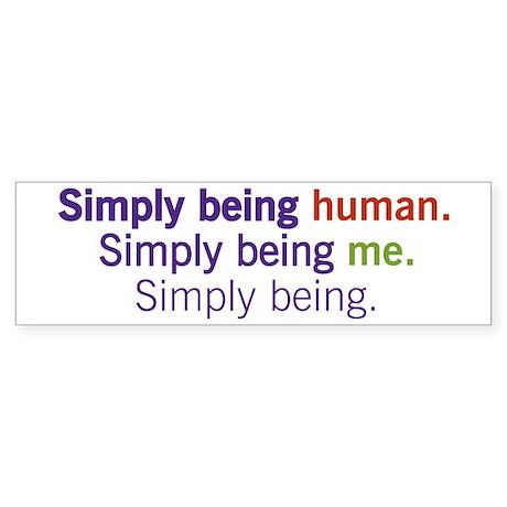 Simply Being Sticker (Bumper)
