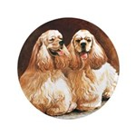 "Cocker Spaniels 3.5"" Button (100 pack)"