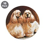 "Cocker Spaniels 3.5"" Button (10 pack)"