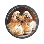 Cocker Spaniels Wall Clock