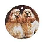 Cocker Spaniels Ornament (Round)