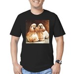Cocker Spaniels Men's Fitted T-Shirt (dark)