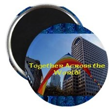 """Together Rainbow 2.25"""" Magnet (10 pack)"""