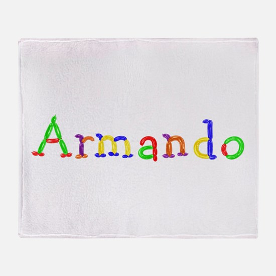 Armando Balloons Throw Blanket