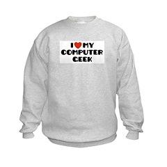 I Love My Computer Geek Sweatshirt