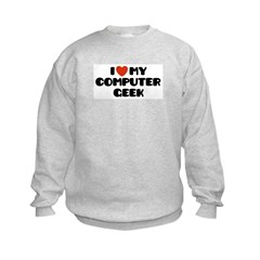 I Love My Computer Geek Sweatshirt