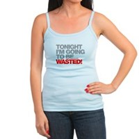 Tonight I'm Going To Be Wasted Jr. Spaghetti Tank