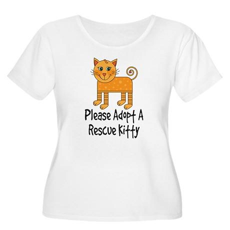 Adopt A Rescue Kitty Women's Plus Size Scoop Neck