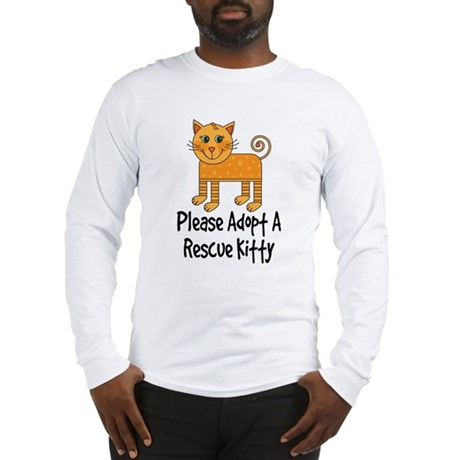 Adopt A Rescue Kitty Long Sleeve T-Shirt