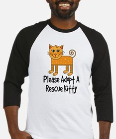 Adopt A Rescue Kitty Baseball Jersey