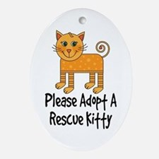 Adopt A Rescue Kitty Ornament (Oval)