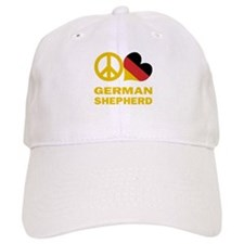 Peace Love German Shepherd Baseball Cap