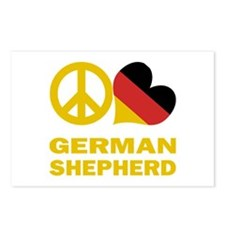 Peace Love German Shepherd Postcards (Package of 8