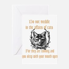 Affairs of Cats Greeting Cards