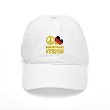 Peace Love German Shorthaired Pointer Baseball Cap