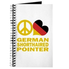 Peace Love German Shorthaired Pointer Journal