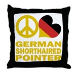 German Shorthaired Pointer Throw Pillow