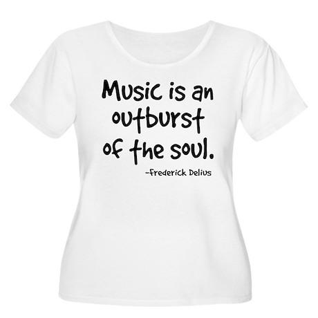 Music Outburst Delius Quote Women's Plus Size Scoo