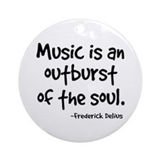 Music Outburst Delius Quote Ornament (Round)