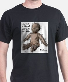 Show me on the doll... Black T-Shirt