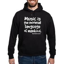 Music Is Universal Language Hoodie (dark)