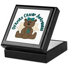 Ovarian Cancer Bear Keepsake Box
