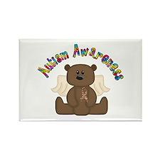 Autism Awareness Bear Rectangle Magnet