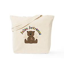 Autism Awareness Bear Tote Bag