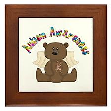 Autism Awareness Bear Framed Tile