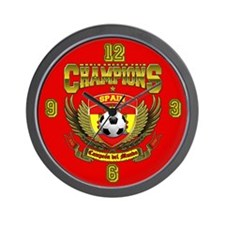 Spain 2010 World Soccer Champions Wall Clock