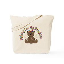 Autism Bear- 4 Daughter Tote Bag