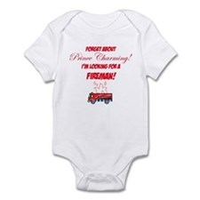 Looking for a fireman! Infant Bodysuit