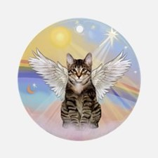 Clouds - Tabby Cat Ornament (Round)