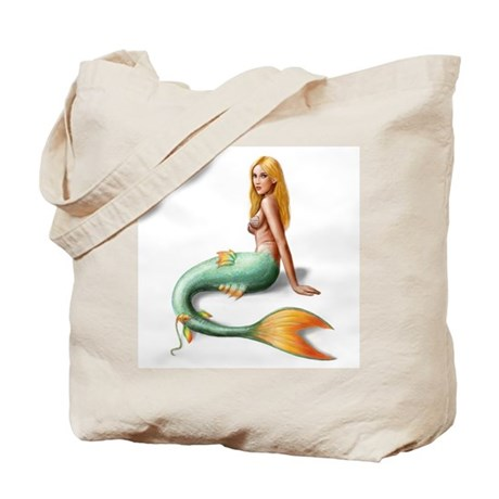 Mermaid with orange fin Tote Bag