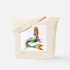 Mermaid with orange fin Tote Bag