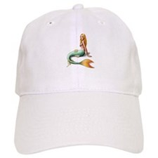 Mermaid with orange fin Baseball Cap