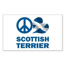 Peace Love Scottish Terrier Decal