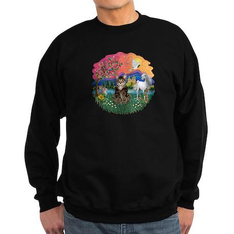 Fantasy Land Tabby Tiger Cat Sweatshirt (dark)