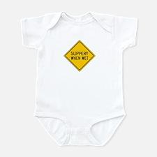 Unique Slippery when wet Infant Bodysuit