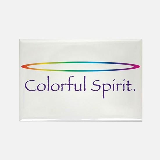 Colorful Spirit Rectangle Magnet