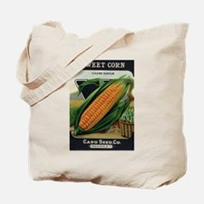 Yellow Corn antique seed pack Tote Bag